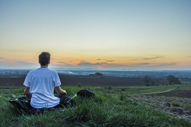 meditace muže
